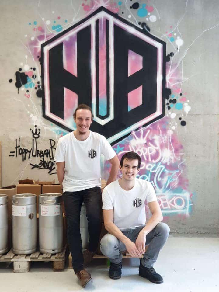 Alexis et Sébastien de la Brasserie Hub